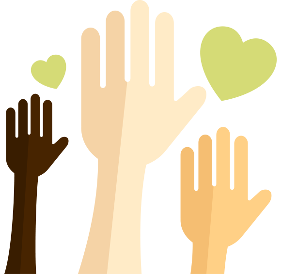 donation hands
